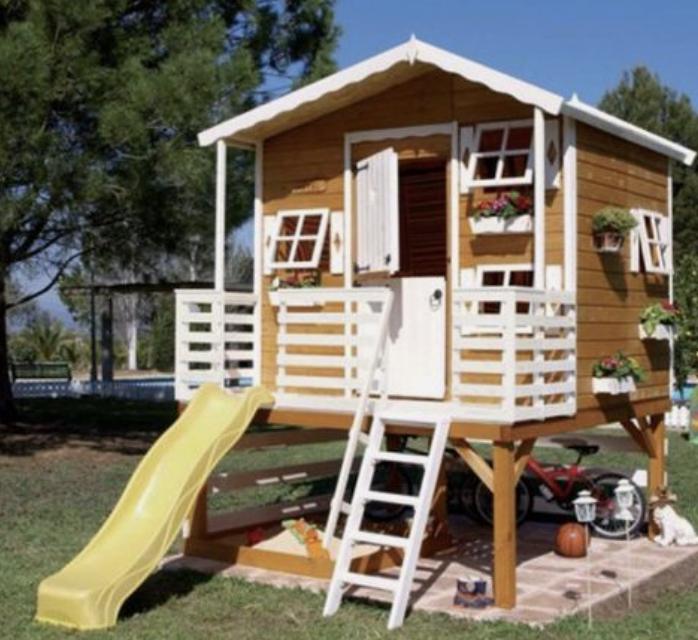 Mediniai vaikų nameliai kaina